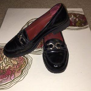 vintage platform loafers